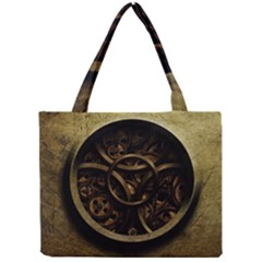 Abstract Steampunk Textures Golden Mini Tote Bag by Onesevenart