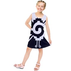 Maya Calendar Native American Religion Kids  Tunic Dress by Onesevenart