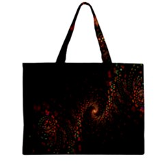 Multicolor Fractals Digital Art Design Zipper Mini Tote Bag by Onesevenart