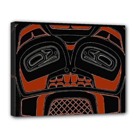 Traditional Northwest Coast Native Art Canvas 14  X 11  by Onesevenart