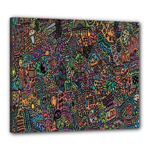 Trees Internet Multicolor Psychedelic Reddit Detailed Colors Canvas 24  X 20  by Onesevenart