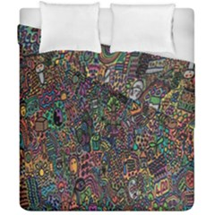 Trees Internet Multicolor Psychedelic Reddit Detailed Colors Duvet Cover Double Side (california King Size) by Onesevenart