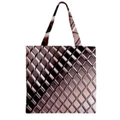 3d Abstract Pattern Zipper Grocery Tote Bag by Onesevenart