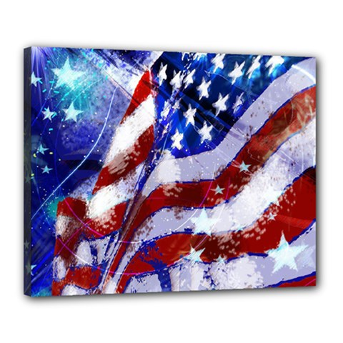 Flag Usa United States Of America Images Independence Day Canvas 20  X 16  by Onesevenart