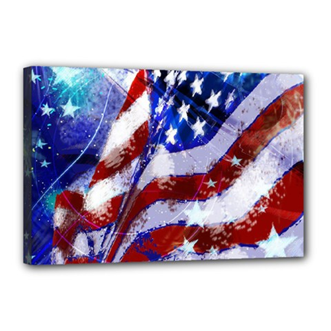 Flag Usa United States Of America Images Independence Day Canvas 18  X 12  by Onesevenart