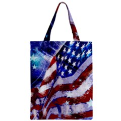 Flag Usa United States Of America Images Independence Day Zipper Classic Tote Bag by Onesevenart