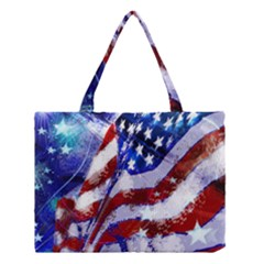 Flag Usa United States Of America Images Independence Day Medium Tote Bag by Onesevenart
