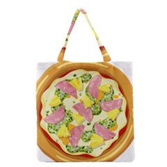 Pizza Clip Art Grocery Tote Bag by Onesevenart