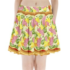 Pizza Clip Art Pleated Mini Skirt by Onesevenart