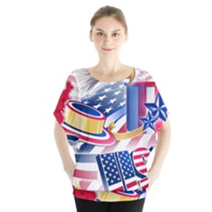 United States Of America Usa  Images Independence Day Blouse by Onesevenart