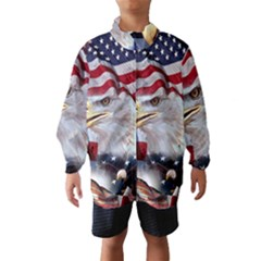 United States Of America Images Independence Day Wind Breaker (Kids) by Onesevenart