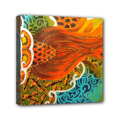 The Beautiful Of Art Indonesian Batik Pattern Mini Canvas 6  X 6  by Onesevenart