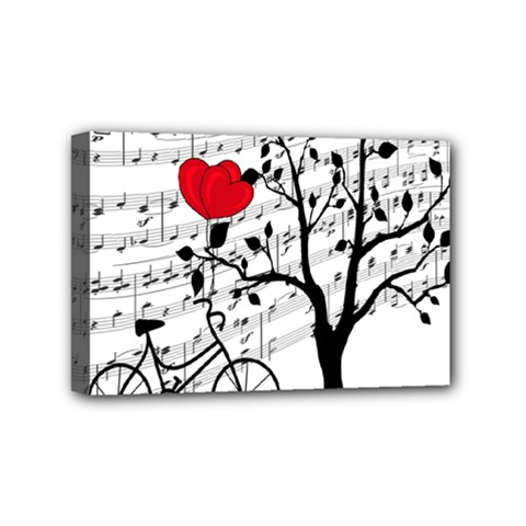 Love Song Mini Canvas 6  X 4  by Valentinaart