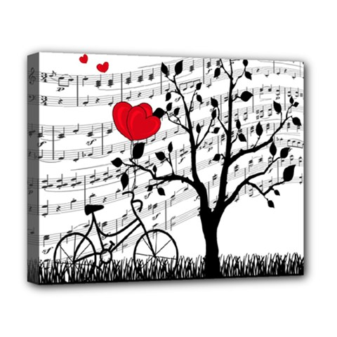 Love Song Deluxe Canvas 20  X 16   by Valentinaart