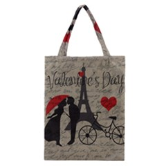 Love Letter   Paris Classic Tote Bag by Valentinaart