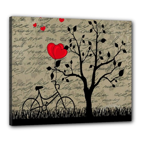 Love Letter Canvas 24  X 20  by Valentinaart