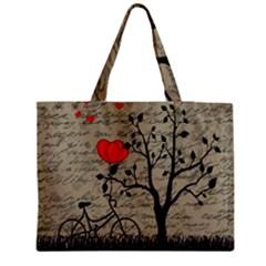 Love Letter Medium Zipper Tote Bag by Valentinaart