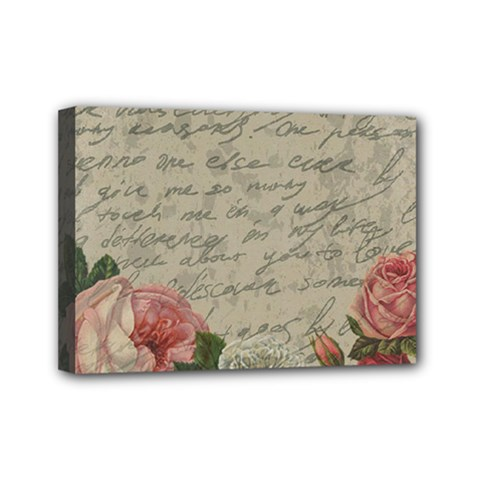Vintage Roses Mini Canvas 7  X 5  by Valentinaart