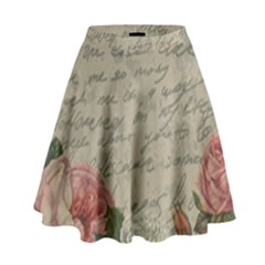 Vintage roses High Waist Skirt by Valentinaart