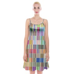 Overlays Graphicxtras Patterns Spaghetti Strap Velvet Dress by Simbadda