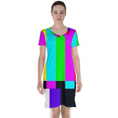 Color Bars & Tones Short Sleeve Nightdress