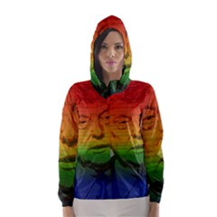 Rainbow Trump  Hooded Wind Breaker (women) by Valentinaart