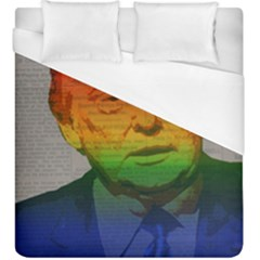 Rainbow Trump  Duvet Cover (king Size) by Valentinaart