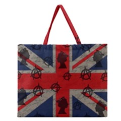 United Kingdom  Zipper Large Tote Bag by Valentinaart