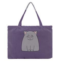 Cat Minimalism Art Vector Medium Zipper Tote Bag by Simbadda