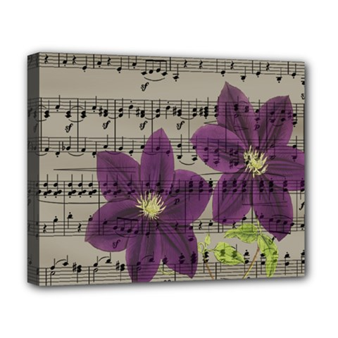Vintage Purple Flowers Deluxe Canvas 20  X 16   by Valentinaart