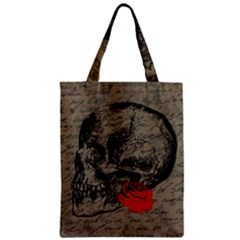 Skull And Rose  Zipper Classic Tote Bag by Valentinaart