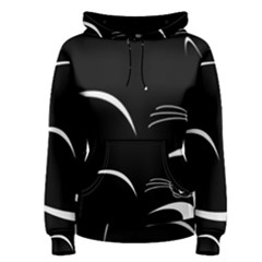 Cat Black Vector Minimalism Women s Pullover Hoodie