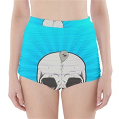 Skull Ball Line Schedule High Waisted Bikini Bottoms