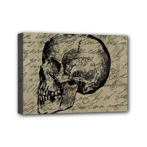 Skull Mini Canvas 7  X 5  by Valentinaart