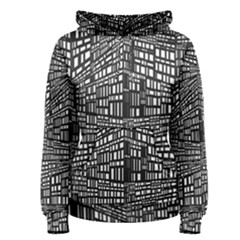 Recursive Subdivision Between 5 Source Lines Screen Black Women s Pullover Hoodie by Simbadda