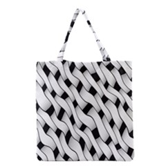 Black And White Pattern Grocery Tote Bag by Simbadda