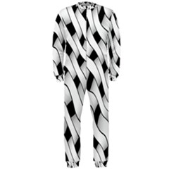 Black And White Pattern Onepiece Jumpsuit (men)