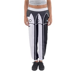 Texture Cats Black White Women s Jogger Sweatpants by Simbadda