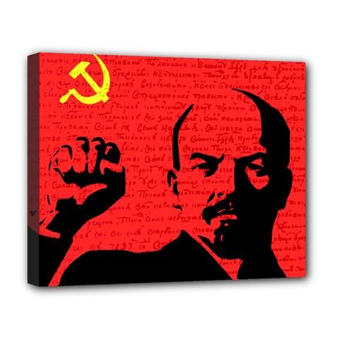 Lenin  Deluxe Canvas 20  X 16   by Valentinaart