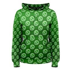 Whatsapp Logo Pattern Women s Pullover Hoodie