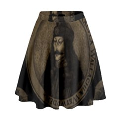 Count Vlad Dracula High Waist Skirt by Valentinaart