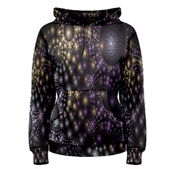 Fractal Patterns Dark Circles Women s Pullover Hoodie by Simbadda