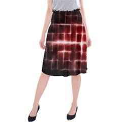 Electric Lines Pattern Midi Beach Skirt by Simbadda