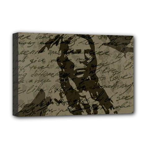 Indian Chief Deluxe Canvas 18  X 12   by Valentinaart