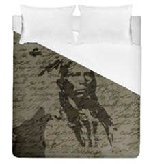 Indian Chief Duvet Cover (queen Size) by Valentinaart