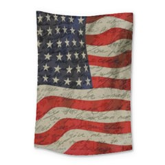 Vintage American Flag Small Tapestry by Valentinaart