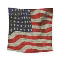 Vintage American Flag Square Tapestry (small) by Valentinaart