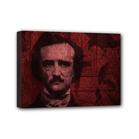 Edgar Allan Poe  Mini Canvas 7  X 5  by Valentinaart