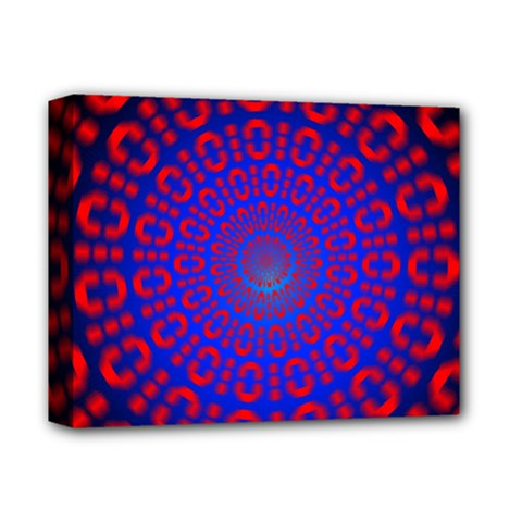 Binary Code Optical Illusion Rotation Deluxe Canvas 14  X 11  by Simbadda