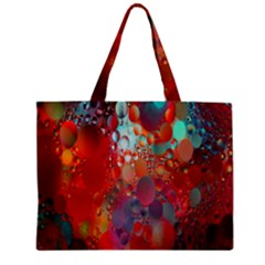 Texture Spots Circles Zipper Mini Tote Bag